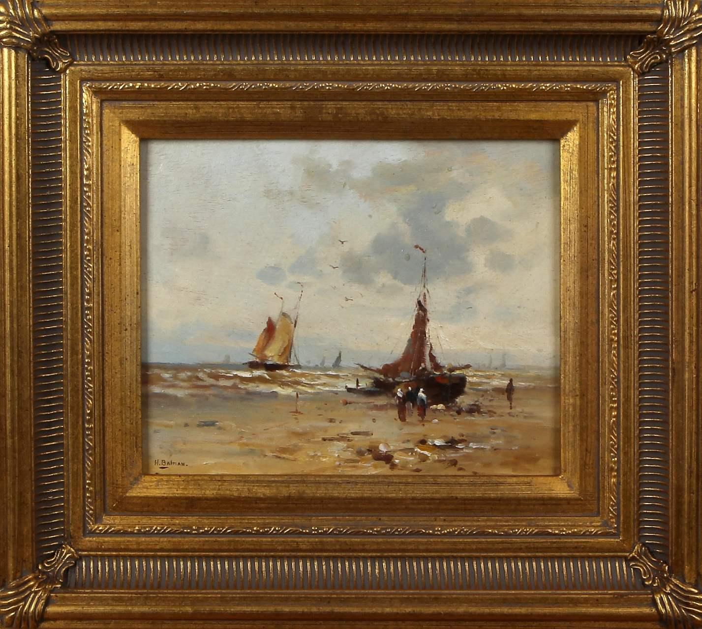 Balman, strand met boten