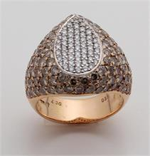 Ring WG/RG met diamanten