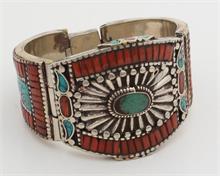Armband met koraal en turkoois