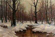 W. Moras, Bosbeek in de winter